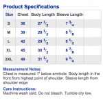 Barbell Shirt Sizing